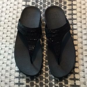 Black Fitflops size 10